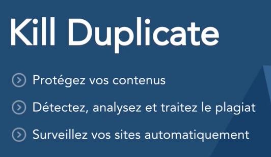 Kill Duplicate pour détecter le vol de vos contenus post image