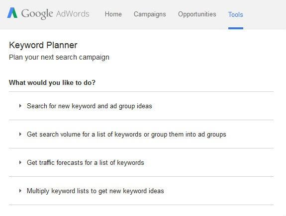 Google Adwords Recherche Mots-Clés
