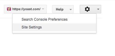 paramètres de la console de recherche