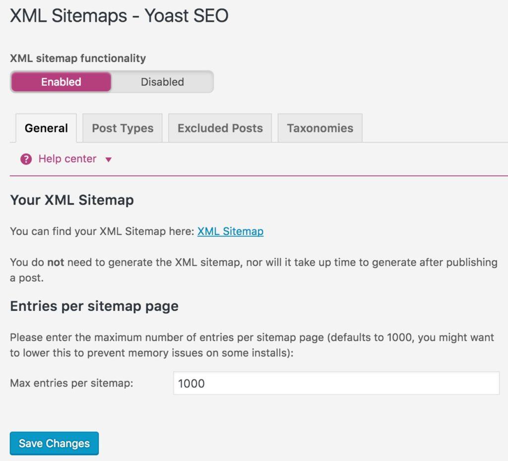 yoast seo wordpress sitemap xml configuration